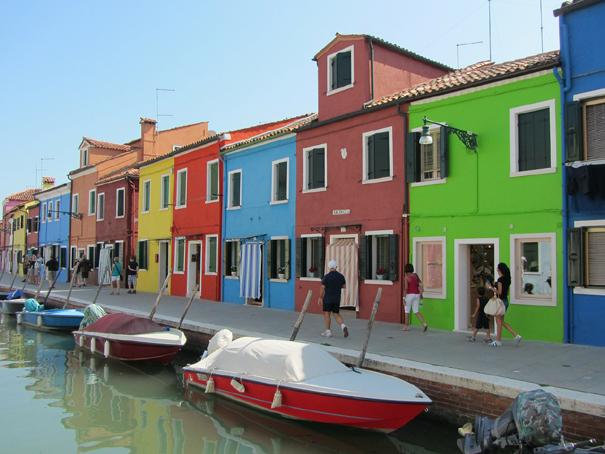 Façades colorées des maisons de Burano
