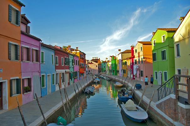 Ile de Burano : les maisons en couleur